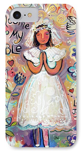 First Communion Girl IPhone Case by Jen Norton