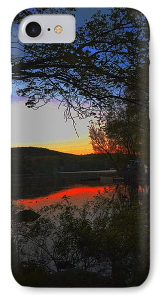 IPhone Case featuring the painting First Dark by Dottie Branchreeves