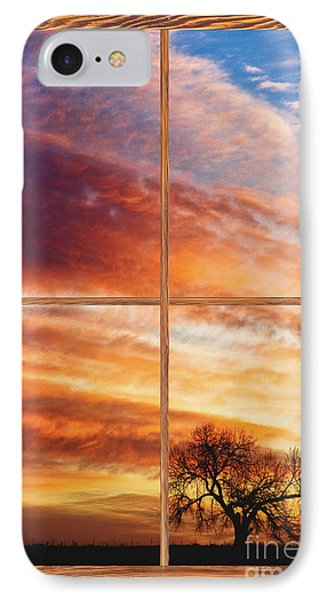 First Dawn Barn Wood Picture Window Frame View Phone Case by James BO  Insogna