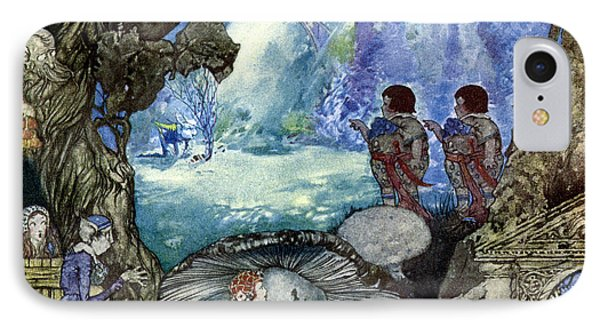 First Fairy Seen Whistling A Hole In The Ground. From Little Prince Toofat. 1922 IPhone Case by Robert Lawson