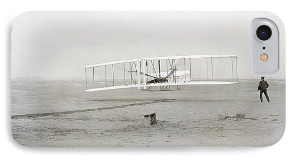 Transportation iPhone 7 Case - First Flight Captured On Glass Negative - 1903 by Daniel Hagerman