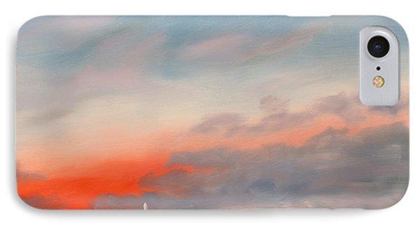 Inaugural Sunrise As Seen From Iwo Jima Memorial IPhone Case by William Van Doren