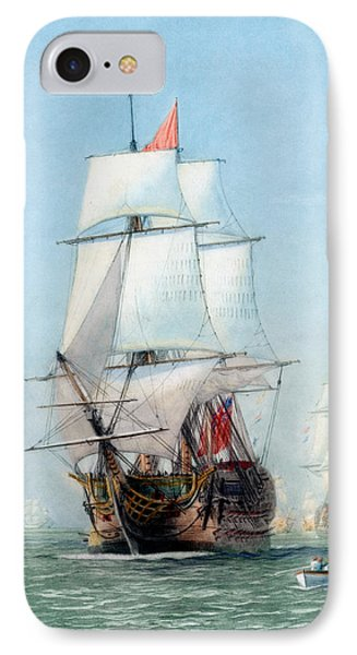 First Journey Of The Hms Victory IPhone Case by War Is Hell Store