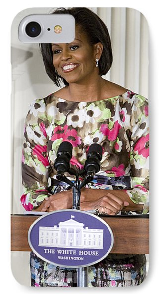 First Lady Michelle Obama IPhone Case by JP Tripp