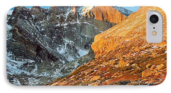 First Light At Longs Peak Phone Case by Eric Glaser