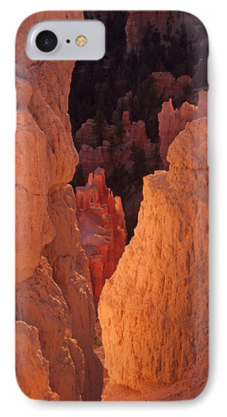 IPhone Case featuring the photograph First Light On Hoodoos by Susan Rovira