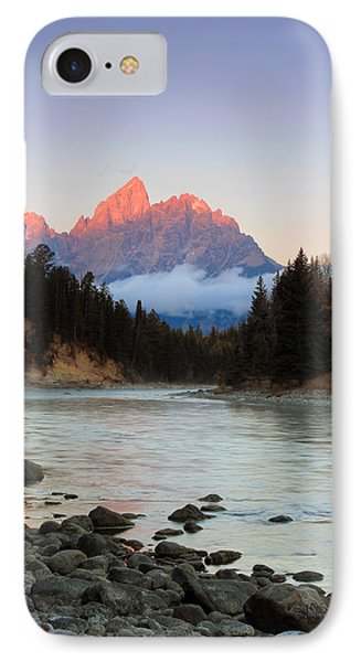 First Light On The Grand Teton IPhone Case by Johnny Adolphson