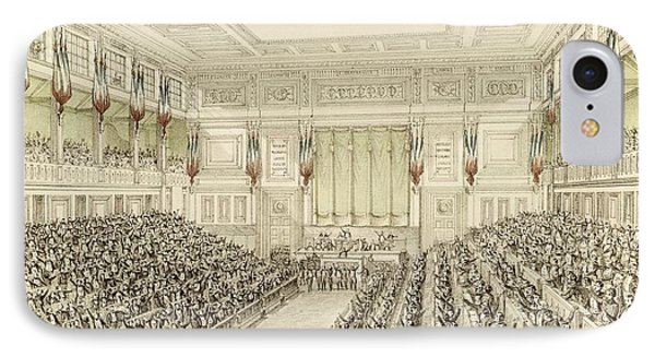 First Meeting Of The National Assembly, 4th May 1848  IPhone Case by Michel C Fichot