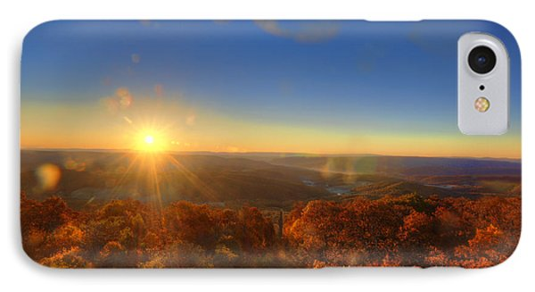 First Morning Light Striking Top Of Trees Phone Case by Dan Friend