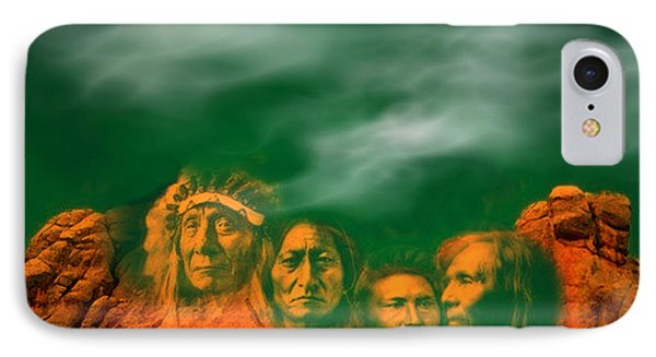 First Nations Chiefs In Mount Rushmore IPhone Case by Anastasia Savage Ealy