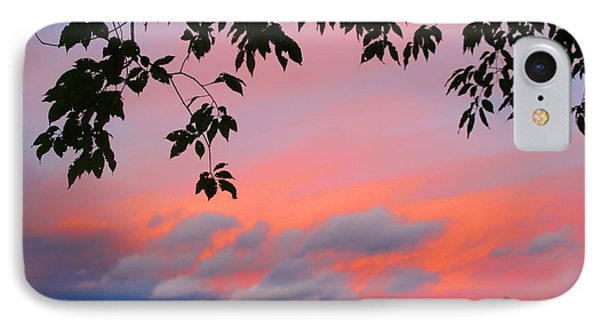 IPhone Case featuring the photograph First October Sunset by Kathryn Meyer
