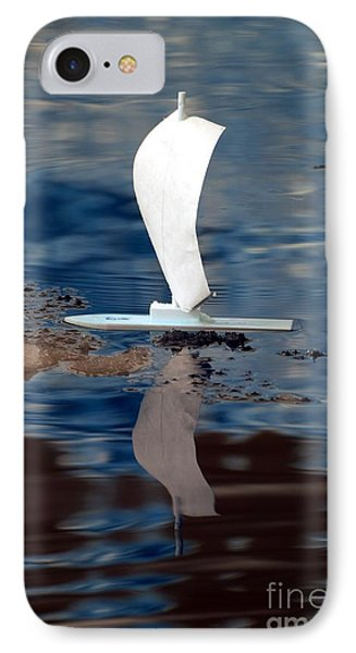 IPhone Case featuring the photograph First Sail by Rebecca Parker