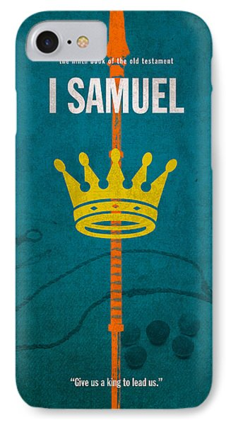 First Samuel Books Of The Bible Series Old Testament Minimal Poster Art Number 9 IPhone Case