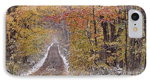 First Snow IPhone Case by Alan L Graham