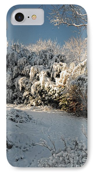 IPhone Case featuring the photograph First Snow Fall by Nigel Fletcher-Jones