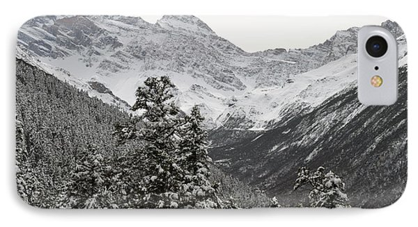 IPhone Case featuring the photograph First Snow In Huang Long by Yue Wang