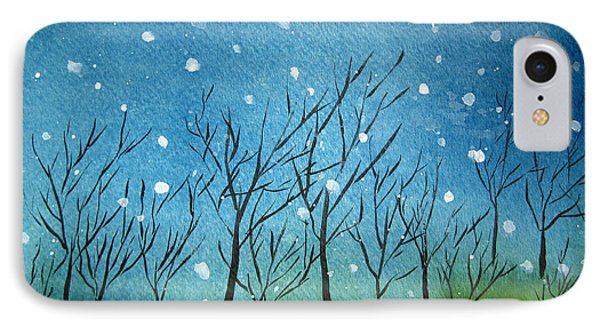 First Snow Phone Case by Oiyee At Oystudio