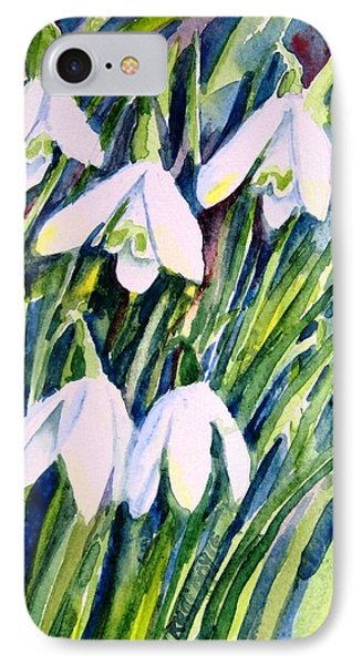 First Snowdrops Of Winter  IPhone Case by Trudi Doyle
