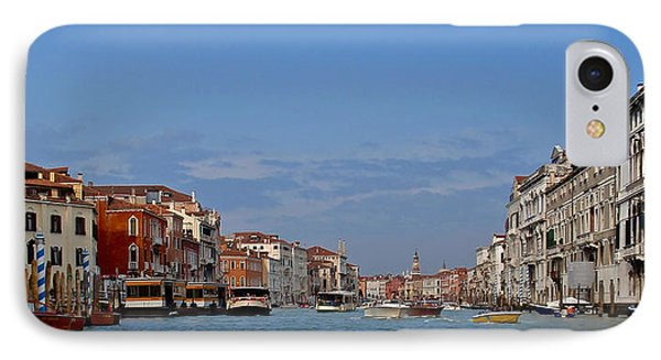 IPhone Case featuring the photograph First View Of Venice by Kathy Ponce