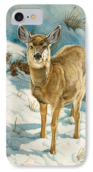 First Winter  - Fawn Phone Case by Paul Krapf