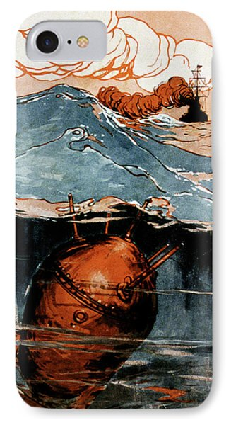 First World War Naval Mine IPhone Case by Cci Archives