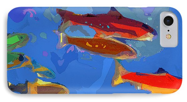 IPhone Case featuring the digital art Fish 1 by David Klaboe