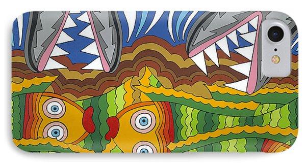 Fish Dinner IPhone Case by Rojax Art