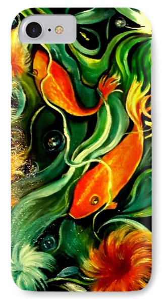 IPhone Case featuring the painting Fish Explosion by Yolanda Rodriguez