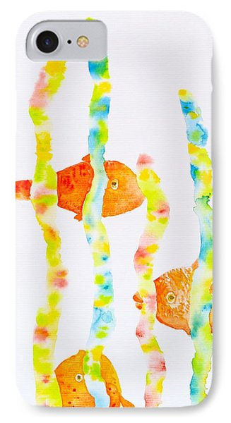 IPhone Case featuring the painting Fish Fun by Michele Myers