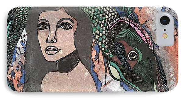 Fish Head Woman Phone Case by Amy Sorrell