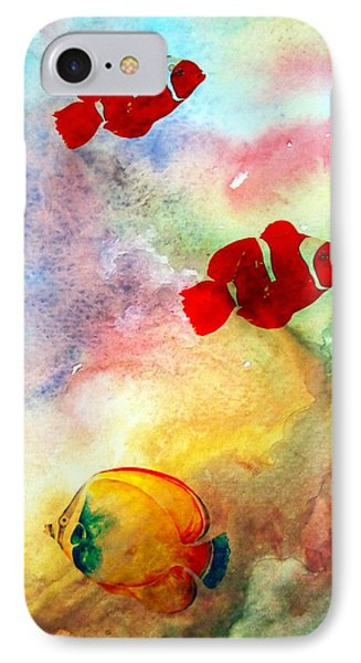 IPhone Case featuring the photograph Fish In The Sea by Athala Carole Bruckner