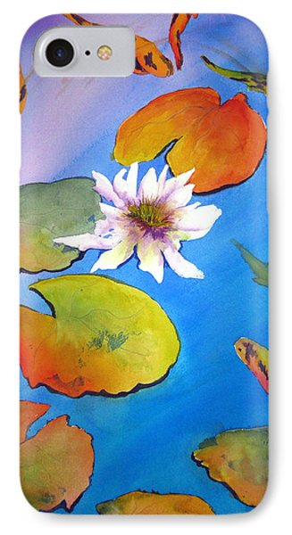 IPhone Case featuring the painting Fish Pond I by Lil Taylor