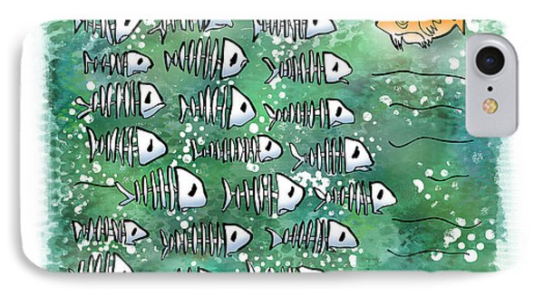 Fish School Reunion Phone Case by Mark Armstrong