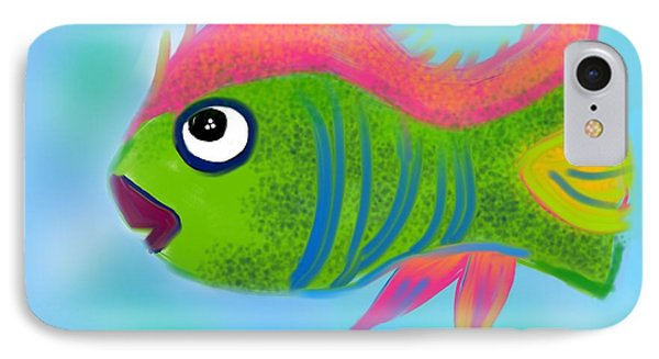 IPhone Case featuring the digital art Fish Wish by Christine Fournier