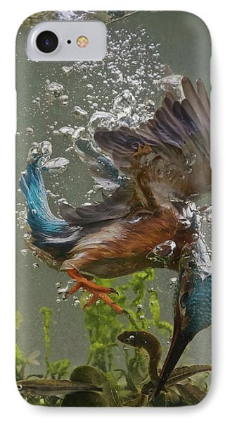 Kingfisher iPhone 7 Case - Fisherman by Ray Cooper