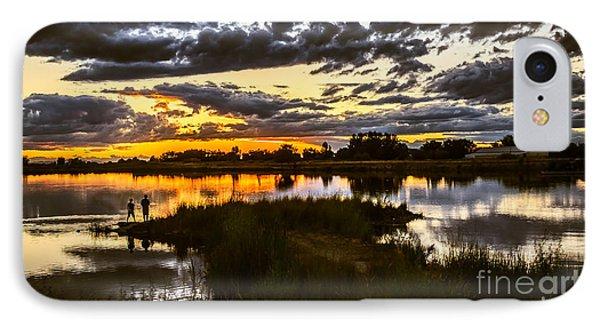 Fisherman Sunset IPhone Case by Robert Bales