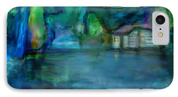 IPhone Case featuring the digital art Fishermans Hut by Martina  Rathgens