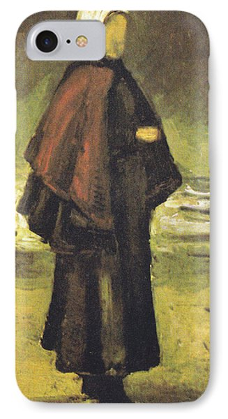 Fishermans Wife On The Beach Phone Case by Vincent Van Gogh