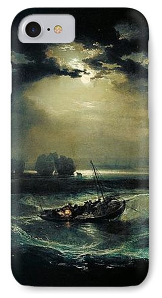 Fishermen At Sea 1796  IPhone Case by J M W Turner