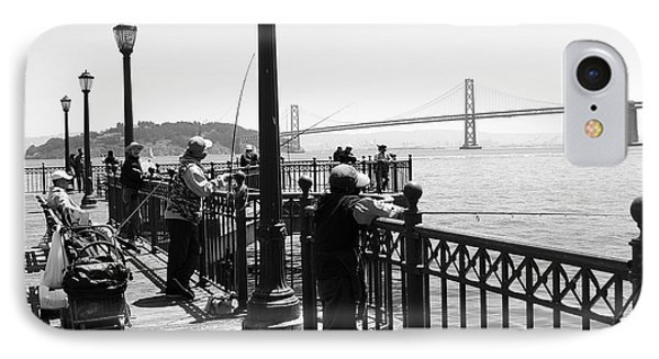 IPhone Case featuring the photograph San Francisco - Fishing At The Pier by Haleh Mahbod