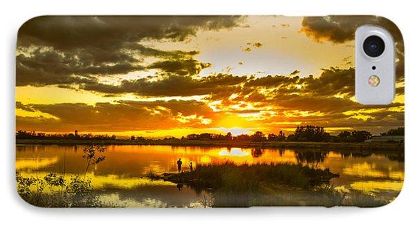 Fishermen Sunset II IPhone Case by Robert Bales