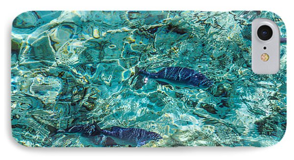 Fishes In The Clear Water. Maldives Phone Case by Jenny Rainbow