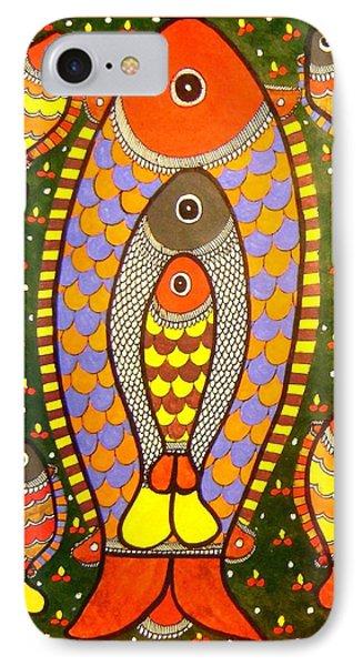 Fishes-madhubani Painting IPhone Case