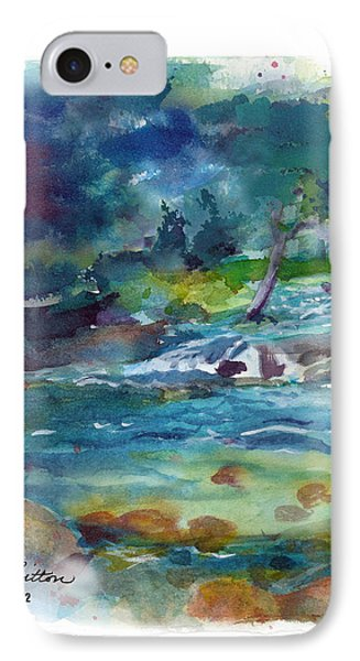 IPhone Case featuring the painting Fishin' Hole 2 by C Sitton