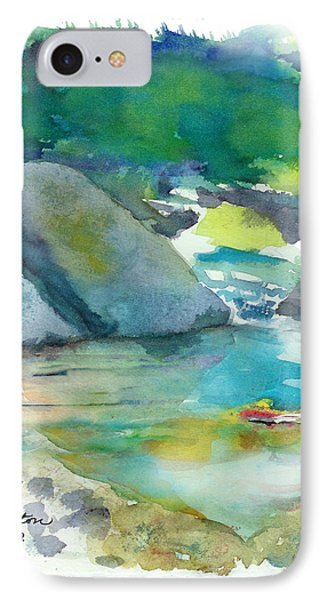IPhone Case featuring the painting Fishin' Hole by C Sitton