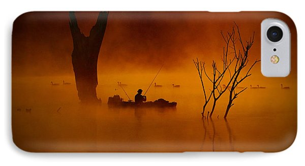 Fishing Among Nature IPhone Case