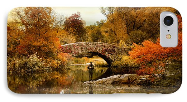 IPhone Case featuring the photograph Fishing At Gapstow by Jessica Jenney