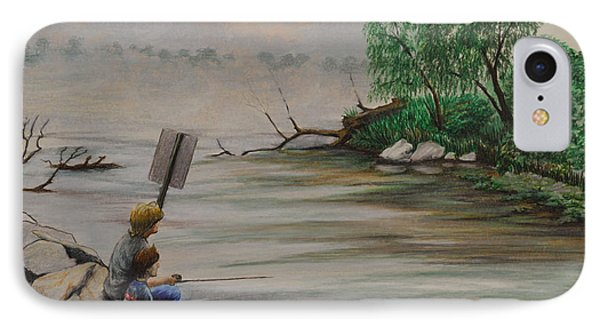 Fishing At Lake Palourde IPhone Case by Peter E Malbrough