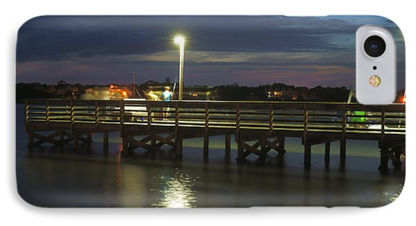 Fishing At Soundside Park In Surf City IPhone Case by Mike McGlothlen