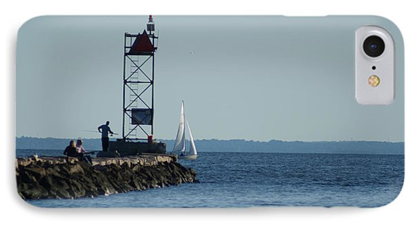 IPhone Case featuring the photograph Fishing At Southport Harbor by Margie Avellino